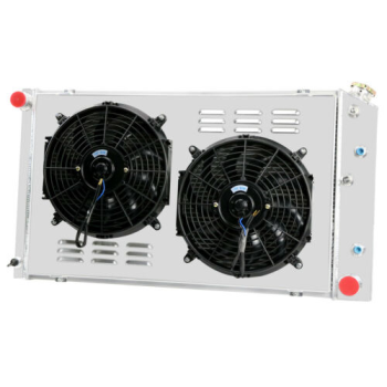 4 Row Radiator+Shroud Fan For Chevrolet C/K Series C10 K10 Suburban&Pickup 73-88
